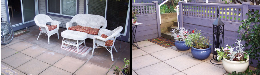 Two Views of patio